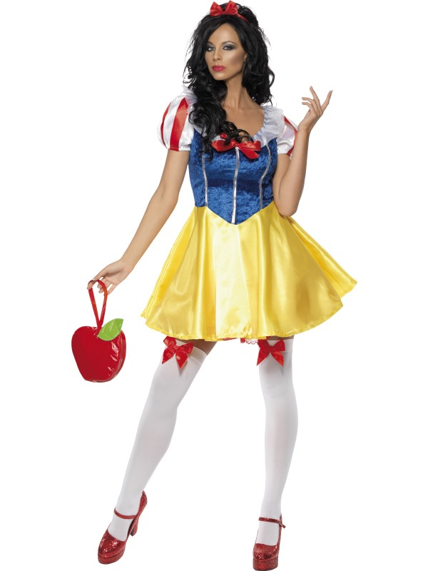 Adult-Snow-White-Fairy-Tale-Fancy-Dress-Costume-Sexy-Ladies-Womens-Female-BN