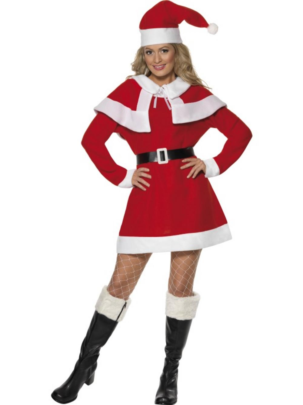Adult miss santa claus mrs christmas seasonal fancy dress