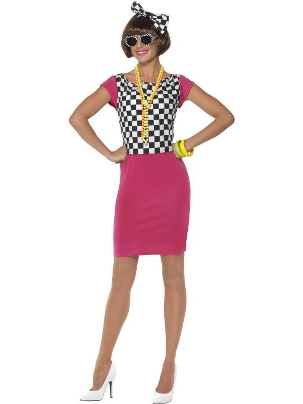 Adult Two Tone Ska Girl Fancy Dress Costume Ladies Womens ...