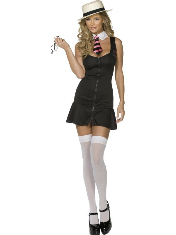 Adult Ladies Sexy Schoolgirl Costume Thumbnail 1