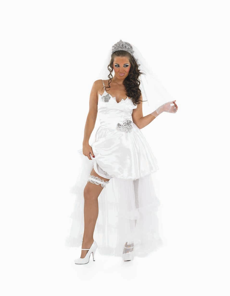 Adult Gypsy Bride Fancy Dress Costume Sexy Wedding Hen Night Party Ladies Womens | EBay