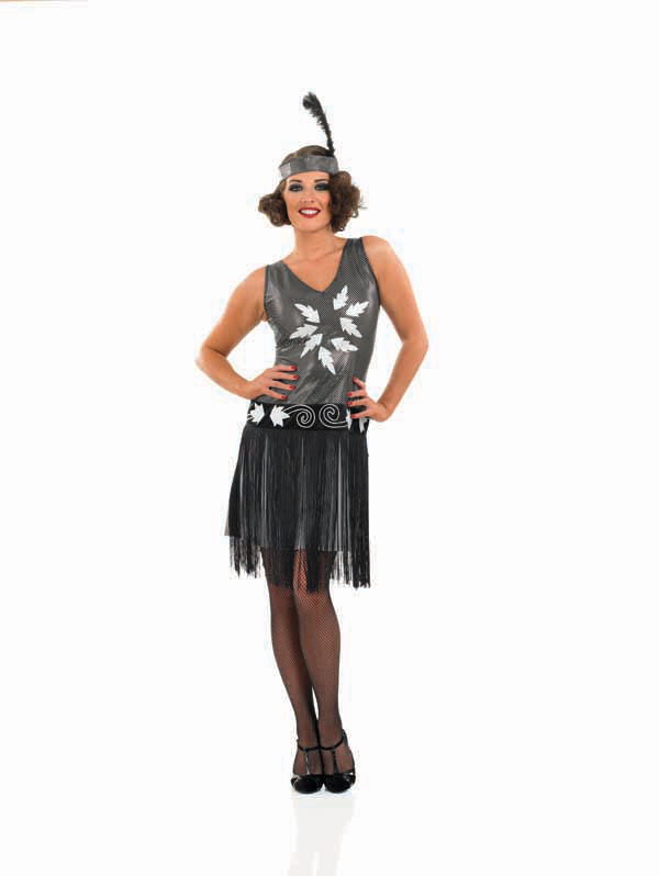 Adult-1920s-Fancy-Dress-Cocktail-Costume-Sexy-Charleston-Ladies-Female-BN