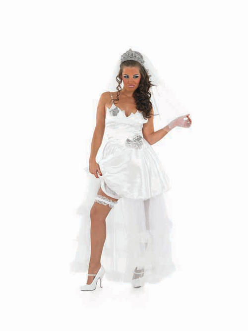 Big fat gypsy wedding bride fancy dress costume sexy hen for Sexy wedding dress costume