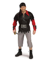 View Item Adult Pirate King Fancy Dress Costume (Standard)