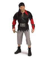 View Item Adult Pirate King Fancy Dress Costume (Standard)