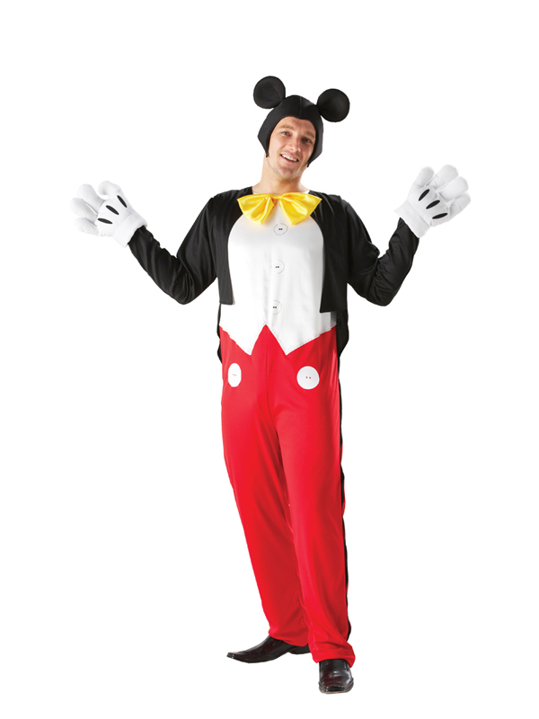 adult disney mickey mouse fancy dress costume mens gents male. Black Bedroom Furniture Sets. Home Design Ideas