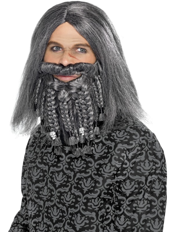 Smiffy's Terror of the Sea Pirate Beard and Wig Set