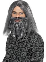 View Item Adult Terror Of The Sea Pirate Wig & Beard Set Fancy Dress Caribbean Mens Gents