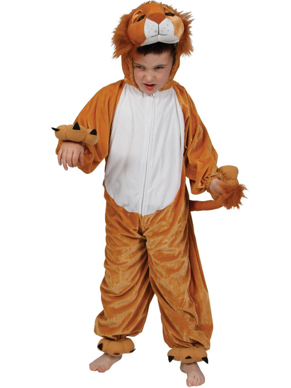 View Item Child Kidz Lion Fancy Dress Animal Cat Costume