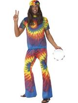 View Item Adult Tie Dye Groovy Babe Tie Die Fancy Dress Costume 60s 70s Mens Gents