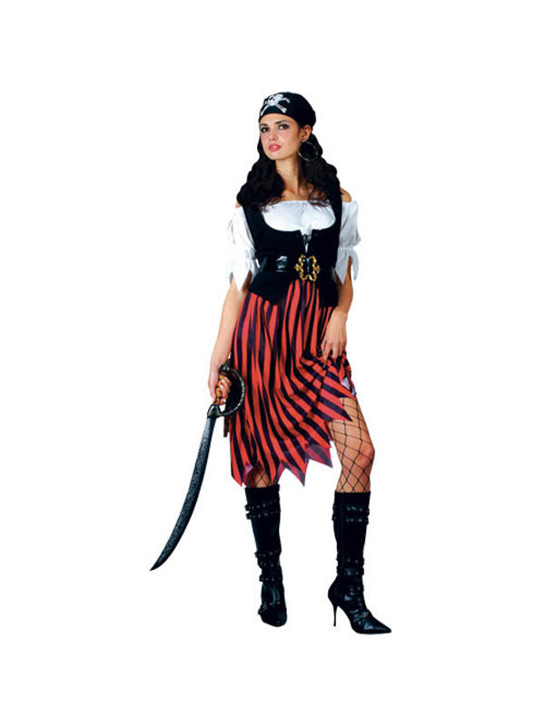 Ladies Caribbean Pirate Wench Costume Thumbnail 1