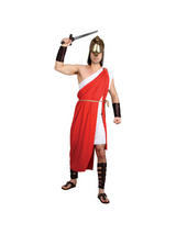 View Item Adult Spartan Warrior Greek Army Roman Fighter Soldier Fancy Dress Costume