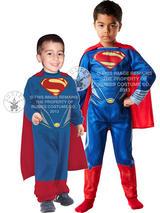 Superman Man Of Steel Boy's Costume