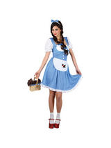 View Item Adult Darlin' Dorothy Fancy Dress Wizard Of Oz Costume Ladies Womens Female