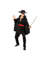 View Item Mens Adult Bandit Hero Fancy Dress Fencing Costume Gents Male