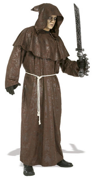 Adult The Mad Monk Fancy Dress Horror Costume (STD)