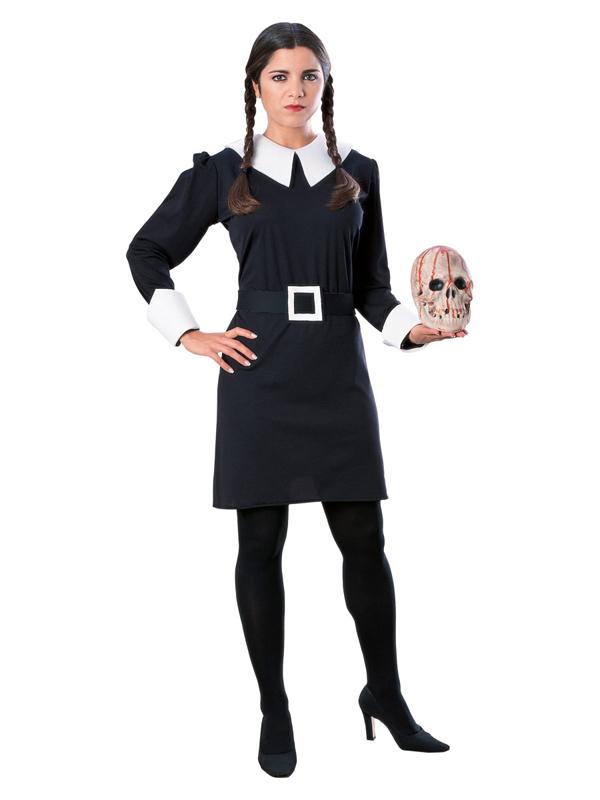 Adult-Addams-Family-Wednesday-Adams-Fancy-Dress-Costume-Ladies-Womens