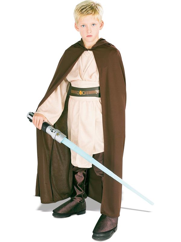 jedi robe boys fancy dress star wars luke skywalker kids childrens