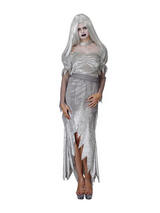 View Item Adult Ghostly Bride Fancy Dress Haunted Costume Ladies Womens Female