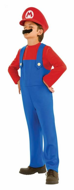 Child Age 3-4 Years Super Mario Brothers Fancy Dress Nintendo Costume (Small)