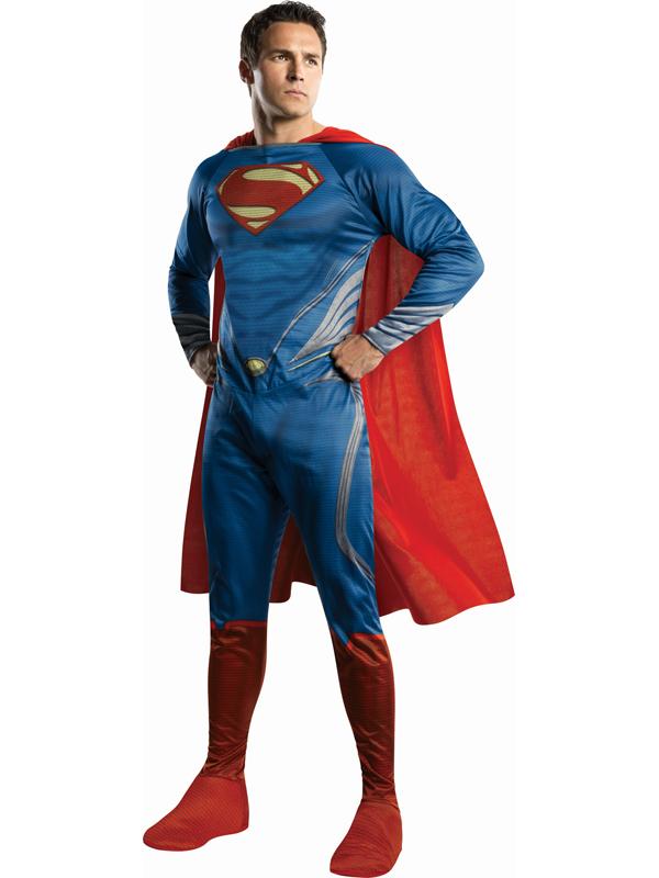 NEW-Adult-Licensed-Superman-Man-Of-Steel-Fancy-Dress-Costume-Superhero-Mens