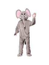 Men's African Elephant Jumpsuit Costume