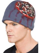 Adult Latex Exposed Brain Beanie Hat