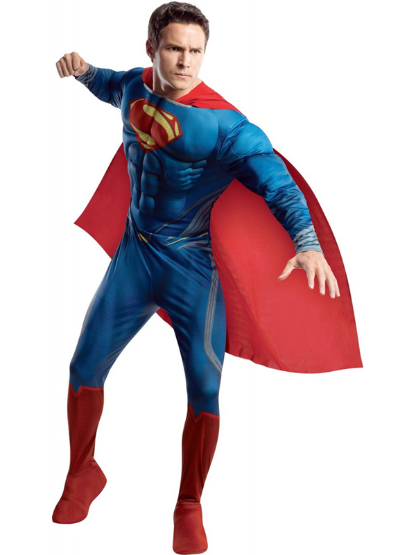 NEW-Adult-Superman-Muscle-Chest-Man-Of-Steel-Fancy-Dress-Costume-Superhero-Mens
