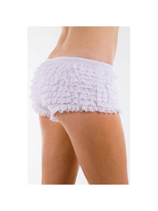 Adult's White Ruffled Pants