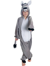 View Item Child Kidz Donkey Fancy Dress Animal Costume Girls Boys Farm Zoo