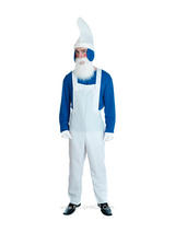 View Item Adult Blue Garden Gnome Fancy Dress Costume Mens Gents Male