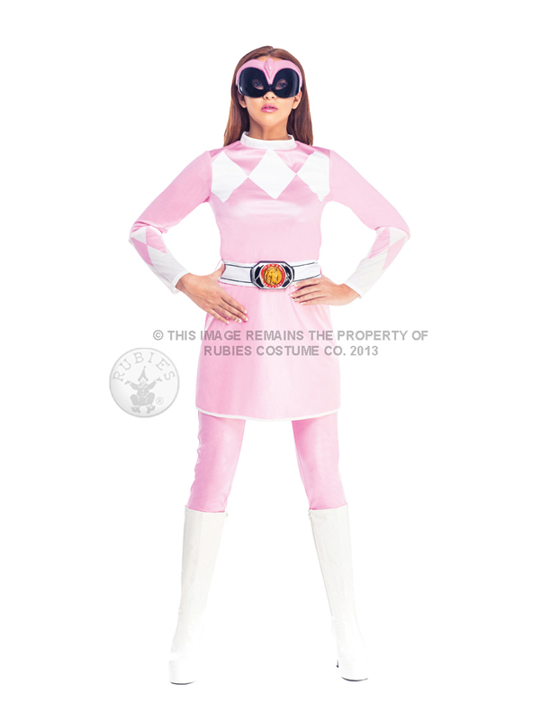 Pink power ranger costume adulto