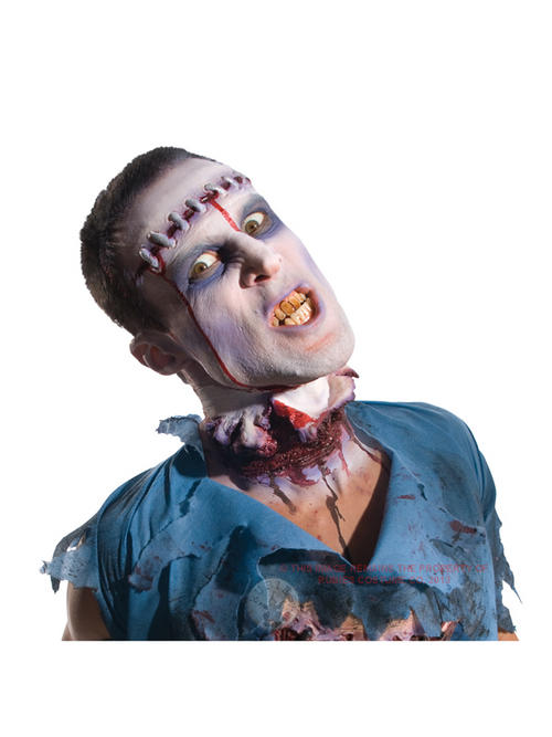 Zombie lobotomy prosthetic scar appliance fancy dress - Zombie scars with glue ...