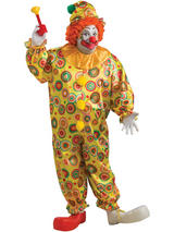 Jack The Jolly Clown Men's Plus Size Costume