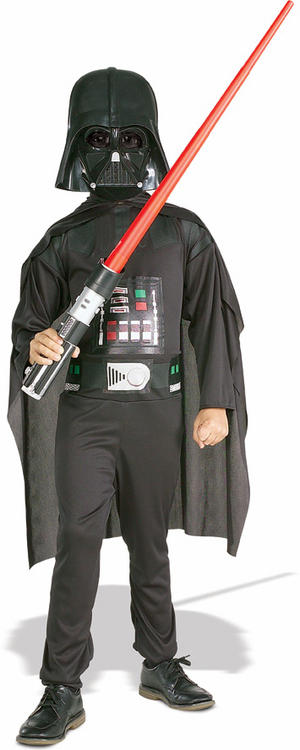 Child Ages 3-4 Star Wars Darth Vader With Light Saber Fancy Dress Costume Boys