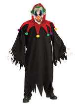 View Item Adult Evil Eye Monster Fancy Dress Costume Halloween Clown Jester Mens Gents