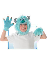 View Item Child Monster University Inc Sulley Headpiece & Mask Fancy Dress Halloween Kids