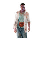 View Item Adult Walking Dead Zombie Doctor Fancy Dress Costume Halloween Surgeon