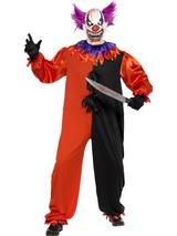 View Item Adult Sinister Bo Bo The Clown Fancy Dress Costume Halloween Scary Mens Gents