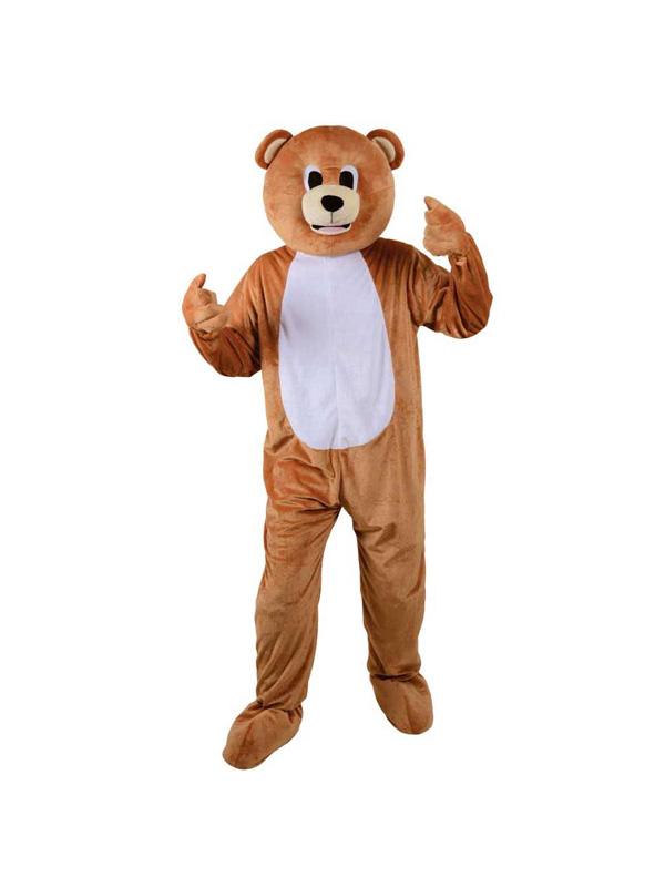 Men's Brown Teddy Bear Jumpsuit Costume