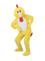 Men's Funky Chicken Jumpsuit Costume