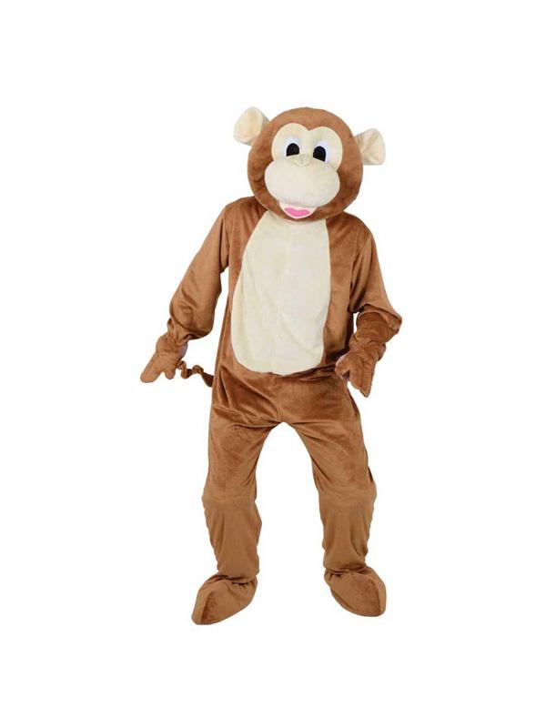 Men's Brown Monkey Jumpsuit Costume