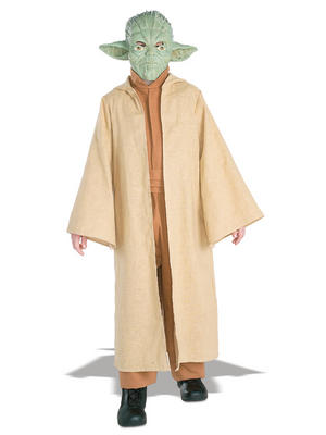Child Ages 5-7 Years Licensed Star Wars Deluxe Yoda Fancy Dress Costume Kids