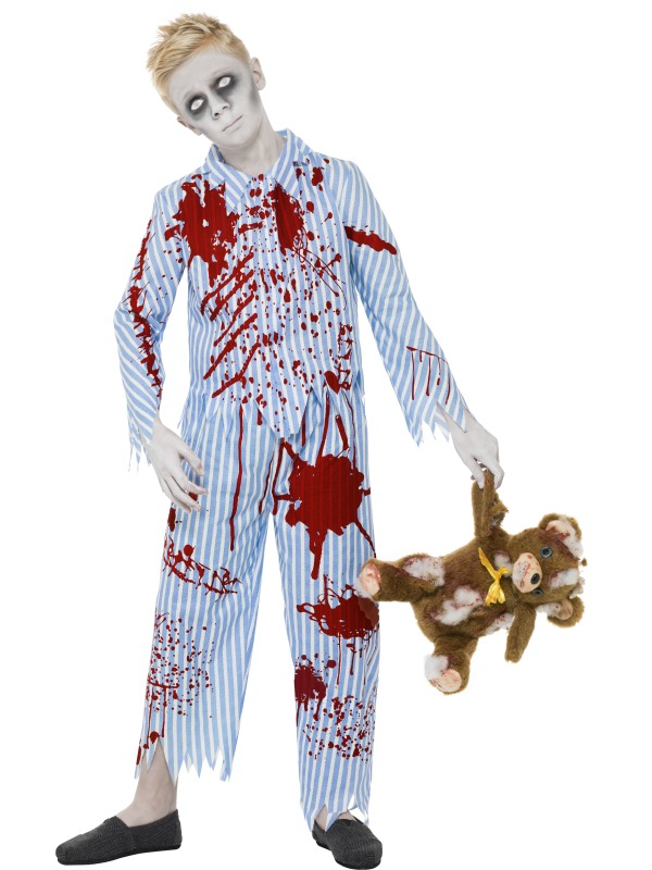 child zombie pyjama boy girl fancy dress costume halloween undead horror kids ebay. Black Bedroom Furniture Sets. Home Design Ideas