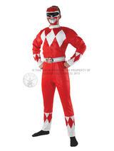Men's Red Power Ranger Costume