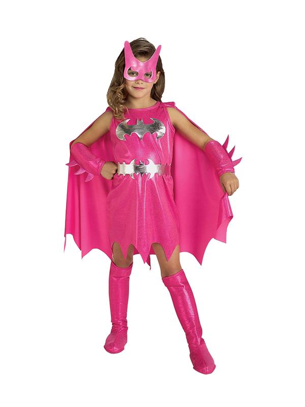 Child-Batman-Pink-Batgirl-Fancy-Dress-Costume-Book-Week-Superhero-Kids-Girls