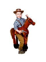 View Item Child Ride On Horse Fancy Dress Costume Horse Jockey Cowboy Wild West Western