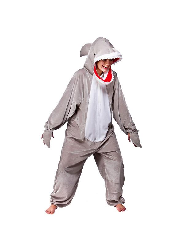 Snappy Shark Fancy Dress Costume Sea Ocean Animal Wild Oufit Onesie ...