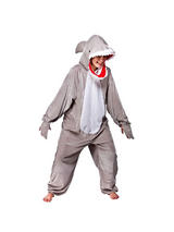 View Item Adult Snappy Shark Fancy Dress Costume Ocean Animal Wild Oceon Onesie Unisex