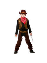 View Item Child Wild West Cowboy Fancy Dress Costume Western Sheriff Rodeo Gunslinger